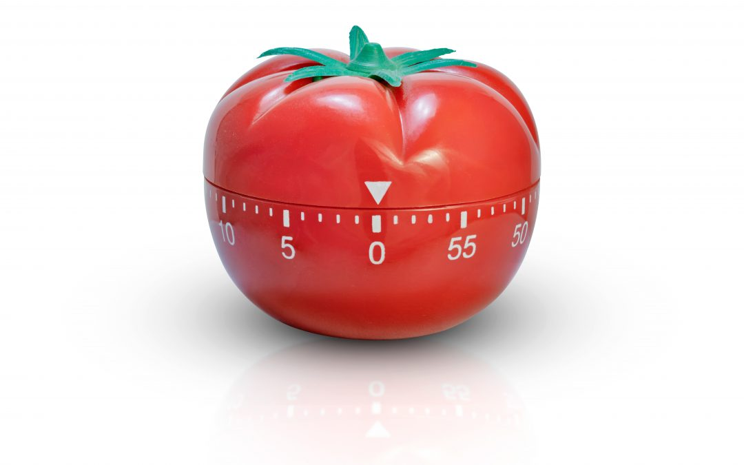 Isolated red kitchen tomato timer